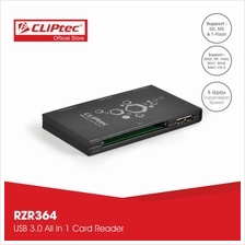 CLiPtec JAGUARA USB 3.0 All In 1 Card Reader RZR364)