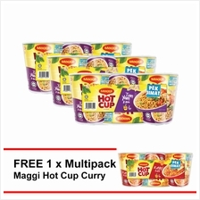 MAGGI Hot Cup Tom Yam 6 Cup , Buy 3 Free1 Hot Cup Curry 6 Cup