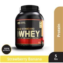Optimum Nutrition Gold Standard Whey 5 lbs - Strawberry Banana
