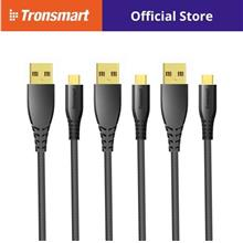 Tronsmart MUC02 3-in-1 Pack Nylon Braided Premium Micro USB Cable (1m))