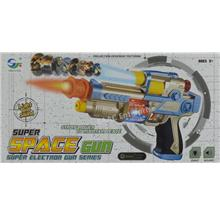 Super Space Flash Electric Gun with Projection Lights Realistic Sound