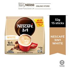 Nescafe Blend  & Brew White Coffee 15 Sticks, 32g Each)