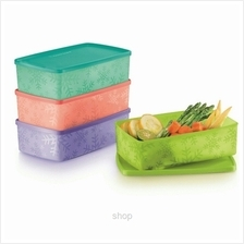 Tupperware Snowflake Square Round (4pcs) 1.3L - 11127174