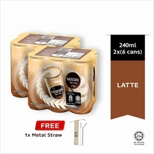 NESCAFE Latte RTD 240ml , Buy 2 Clusters Free Metal Straw