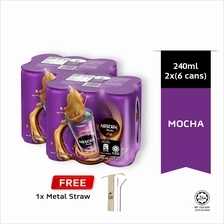 NESCAFE Mocha RTD 240ml , Buy 2 Clusters Free Metal Straw