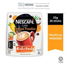 NESCAFE Latte Tropical Paradise 20 Sticks, 25g Each