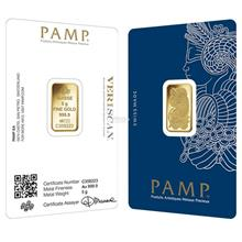 [5 gram] Gold Bar PAMP Suisse Lady Fortuna Veriscan 999.9 Fine Gold [I)