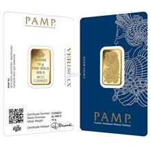 [10 gram] Gold Bar PAMP Suisse Lady Fortuna Veriscan 999.9 Fine Gold [)