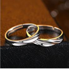 Couple Rings Adjustable Valentine's Day Set 2