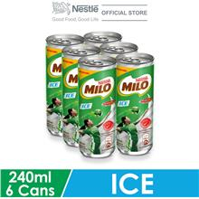 NESTLE MILO Activ-Go Ice Chocolate Malt 6x240ml Per Can