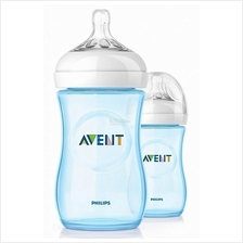 Philips Avent Natural Blue Bottle 9oz/260ml Twin Pack