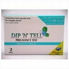DIP N TELL PREGNANCY TEST 2 TESTS WITH FREE URINE CUP INSIDE