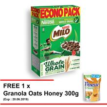 NESTLE MILO Breakfast Cereal Econopack 500g Free 1 Granola Oats Honey)