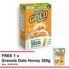 NESTLE HONEY GOLD Cereal Large Box 370g Free 1 Granola Oats Honey 300g)