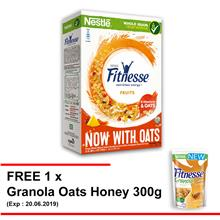 NESTLE FITNESSE Fruit Cereal 450g Free 1 Granola Oats Honey 300g)