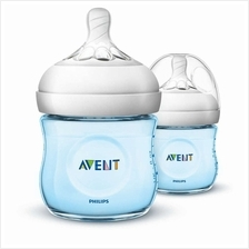 Philips Avent Bottle Natural 2 X 4oz / 125 Ml Twin Pack Blue