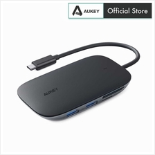 Aukey CB-C68 7 in 1 Type C PD Hub with 3.0 USB Ports card reader HDMI)