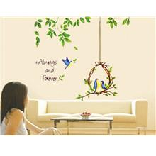 New Arrival Bird and Tree DIY Removable Wall Sticker Decor Home Mu