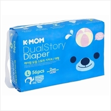 K-MOM Dual Story Diaper L 56pcs (10kg - 14kg) - 10% OFF!!)