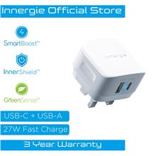 Innergie 27M USB-C Wall Charger 27W Dual-Port with USB-C Speed Charger