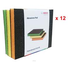 [Set of 12] Bosch 3 In 1 Abrasive Color Foam Pad - 061880008M
