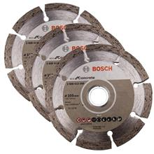 Bosch 4 Inch Stone Eco Diamond Disc (105x16/20mm) Segmented Concrete (3pcs) -