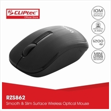 CLiPtec SMOOTHLINE 1200dpi 2.4Ghz Wireless Optical Mouse RZS862