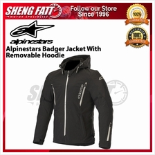 ALPINESTARS BADGER JACKET WITH REMOVABLE HOODIE BLACK
