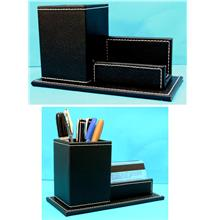 PU Pen Holder with Name Card Holder