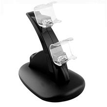 Black ABS Dual USB Charging Dock Station Stand for Playstation 4 PS4 Gaming Co