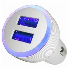 Skyblue 2.4A Max (12W) Dual USB In-Car Charger White - CC24)