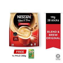 NESCAFE Blend and Brew Original 28's Free Milo 200g