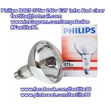 Philips R125 375w 240v E27 clear Infra Red bulb (Heater lamp)