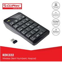 CLiPtec AIR-RAPID 2.4GHz Wireless USB Numeric Keypad-RZK222 (Black)