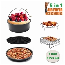 5 Pieces Set Non Stick Air Fryer Pressure Cooker Accessories Set