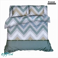 Essina Everest Microfiber Plush 500TC Fitted Sheet Set with Quilt Cover)
