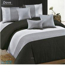 Essina Dove Microfiber Plush 500TC Fitted Sheet Set with Comforter)