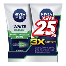 NIVEA FOR MEN White Oil Clear Scrub 2 x 100g