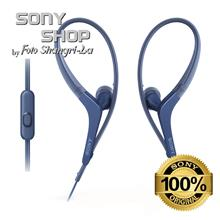 SONY MDR-AS410AP BLUE SPORTS IN-EAR SPLASHPROOF HEADPHONES