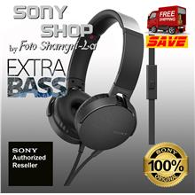 SONY MDR-XB550AP EXTRA BASS HEADPHONES BLACK (SONY MALAYSIA WARRANTY))