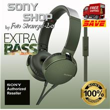 SONY MDR-XB550AP EXTRA BASS HEADPHONES GREEN (SONY MALAYSIA WARRANTY)
