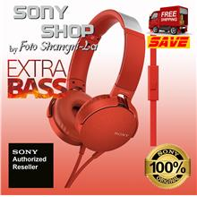 SONY MDR-XB550AP EXTRA BASS HEADPHONES RED (SONY MALAYSIA WARRANTY)