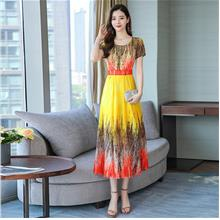 WD6326 Women Colorful Maxi Dress