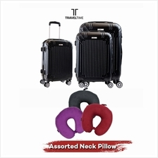 TravelTime 3-in-1 6112 Hardcase ABS Spinner Wheels Luggage Set)