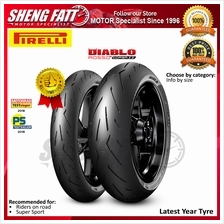 PIRELLI DIABLO ROSSO\u2122 II FRONT AND REAR MOTORCYCLE TYRE (SUPERSPORT TI)