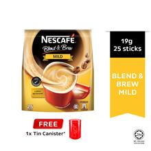 NESCAFE Blend and Brew Mild 28'S Free Tin Canister (Random Colour)