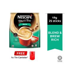 NESCAFE Blend and Brew Rich 25's Free Tin Canister (Random Colour)