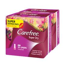 CAREFREE Super Dry Unscented Liners 2 x 50s