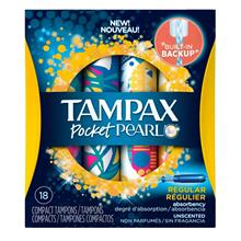 TAMPAX Pocket Pearl Regular Unscented 18s