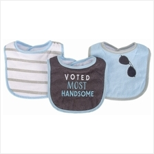 Hudson Baby Drooler Terry Bibs (3 pcs) (Voted Most Handsome) 56215CH -)